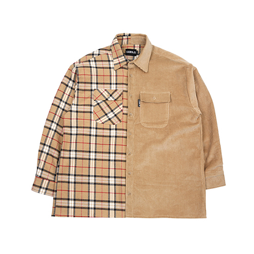 [아조바이아조]Check & Corduroy Jacket [Beige]