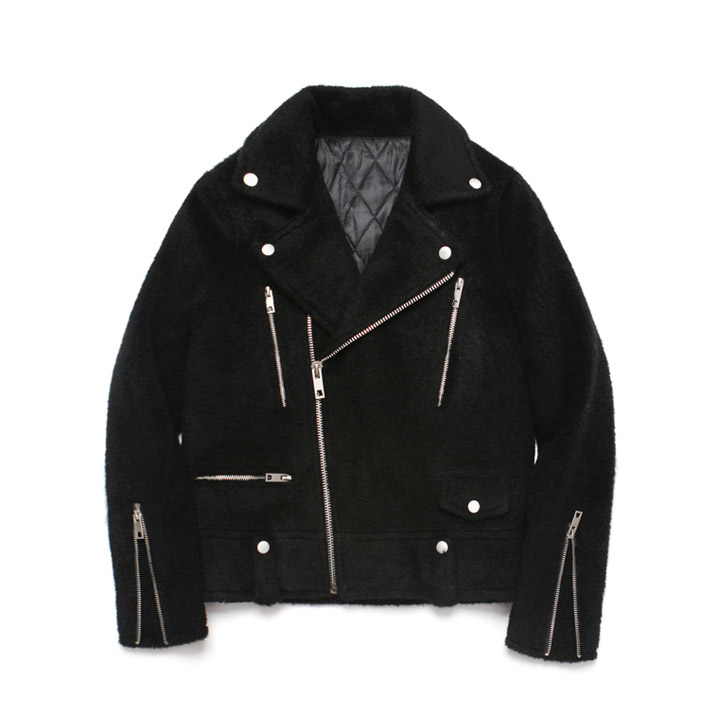 [라퍼지스토어]Teddy Bear Rider Jacket_Black