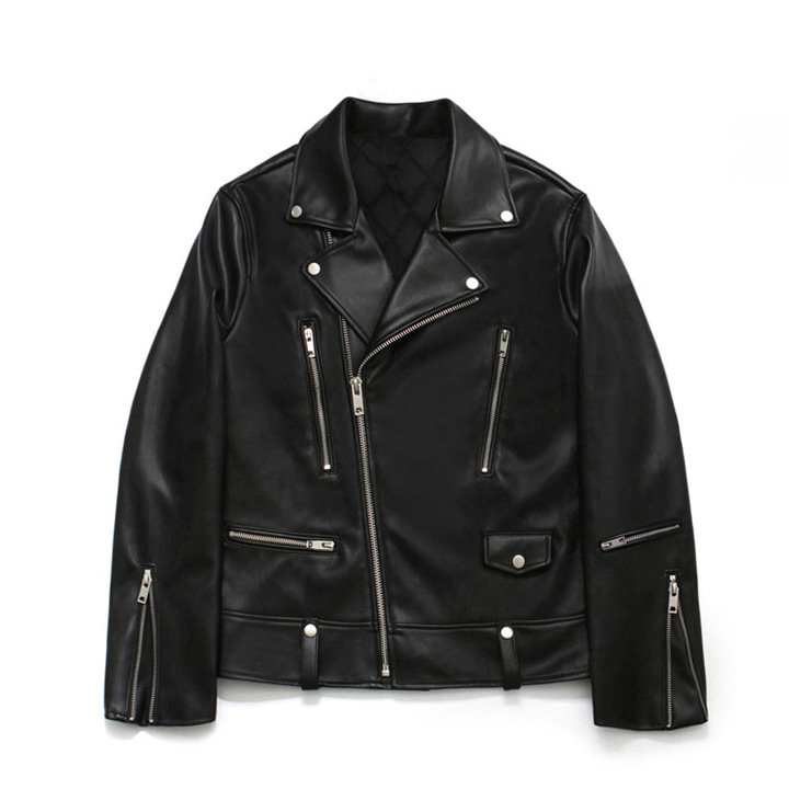 [라퍼지스토어] [FW ver.] Leather Zipper Rider Jacket