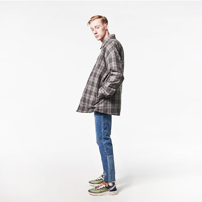 [데드엔드] GRAY FLANNEL PADDING SHIRTS