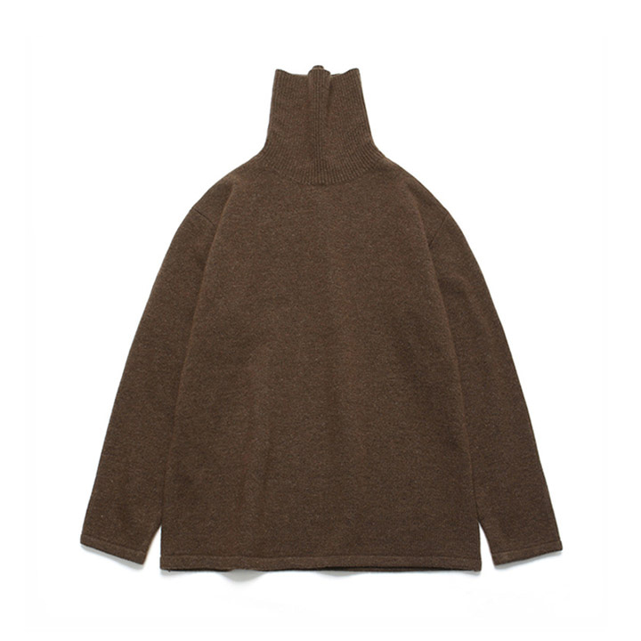 [라퍼지스토어] (Unisex)Cashmere Wool Polo Neck Knit_Classic Brown
