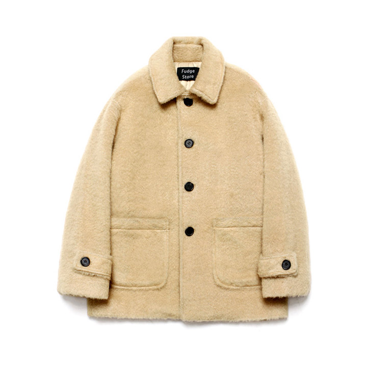 [라퍼지스토어]Teddy Bear Over Half Coat_Beige