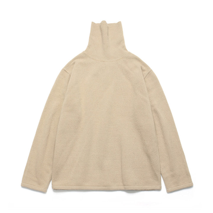[라퍼지스토어] (Unisex)Cashmere Wool Polo Neck Knit_Skin Beige