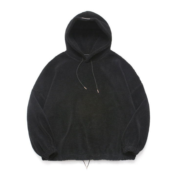 [라퍼지스토어]Fleece Over Hoodie Anorak_Black