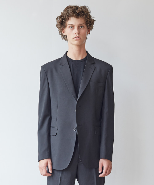 [모노소잉]MONO WOOL SET-UP JACKET(BLACK)