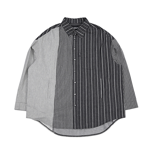 [아조바이아조]Tri Stripe Shirt [Black]