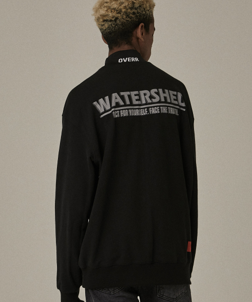 [오베르]18FW WATERSHED HALF BLACK SWEATSHIRTS
