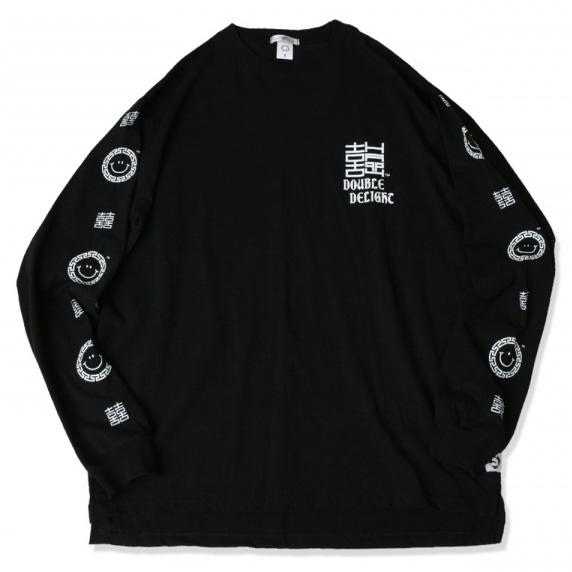 [스웰맙]double delight long sleeve t-shirts  -black-