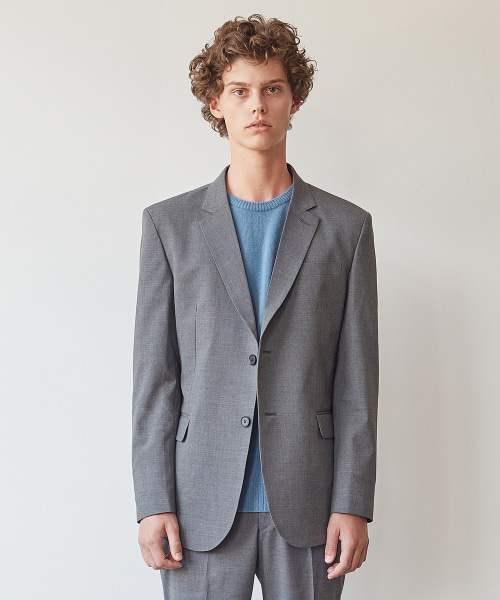 [모노소잉]MONO WOOL SET-UP JACKET(GRAY)
