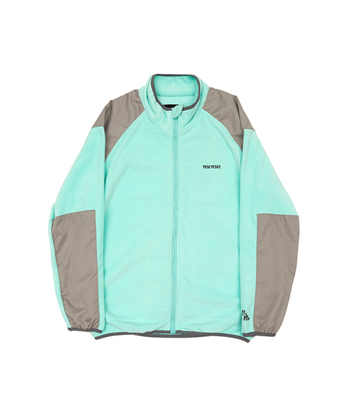 [예스아이씨]FLEECE ZIP UP AQUA