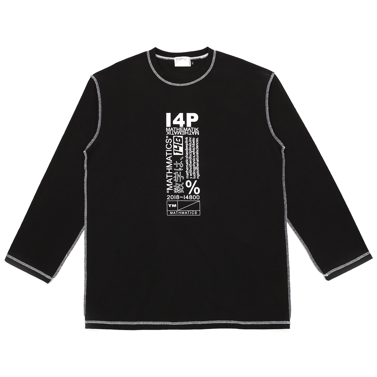 [I4P]I4P Stitch Long Sleeve Black