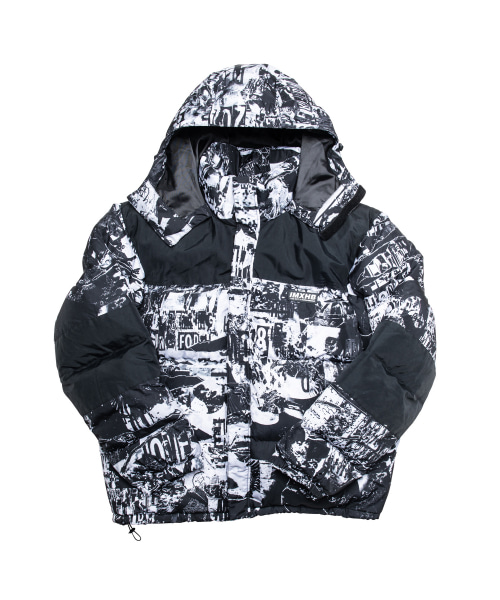 [아임낫어휴먼비잉][18FW] TORN PICTURES HEAVY WEIGHT DUCK DOWN JACKET - WHITE/BLACK