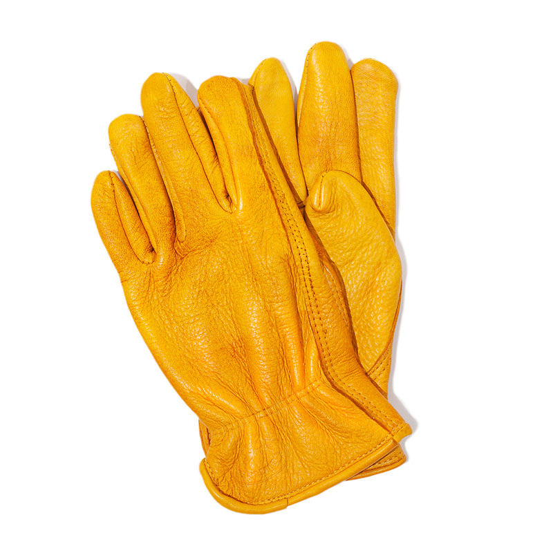 [에이징CCC]HAND DYEING DRIVERS GLOVES-YELLOW