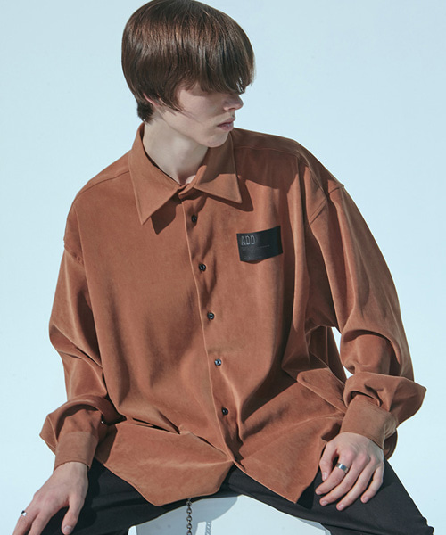 [에드]VELVET AVANTGARDE CROPPED SHIRT BROWN