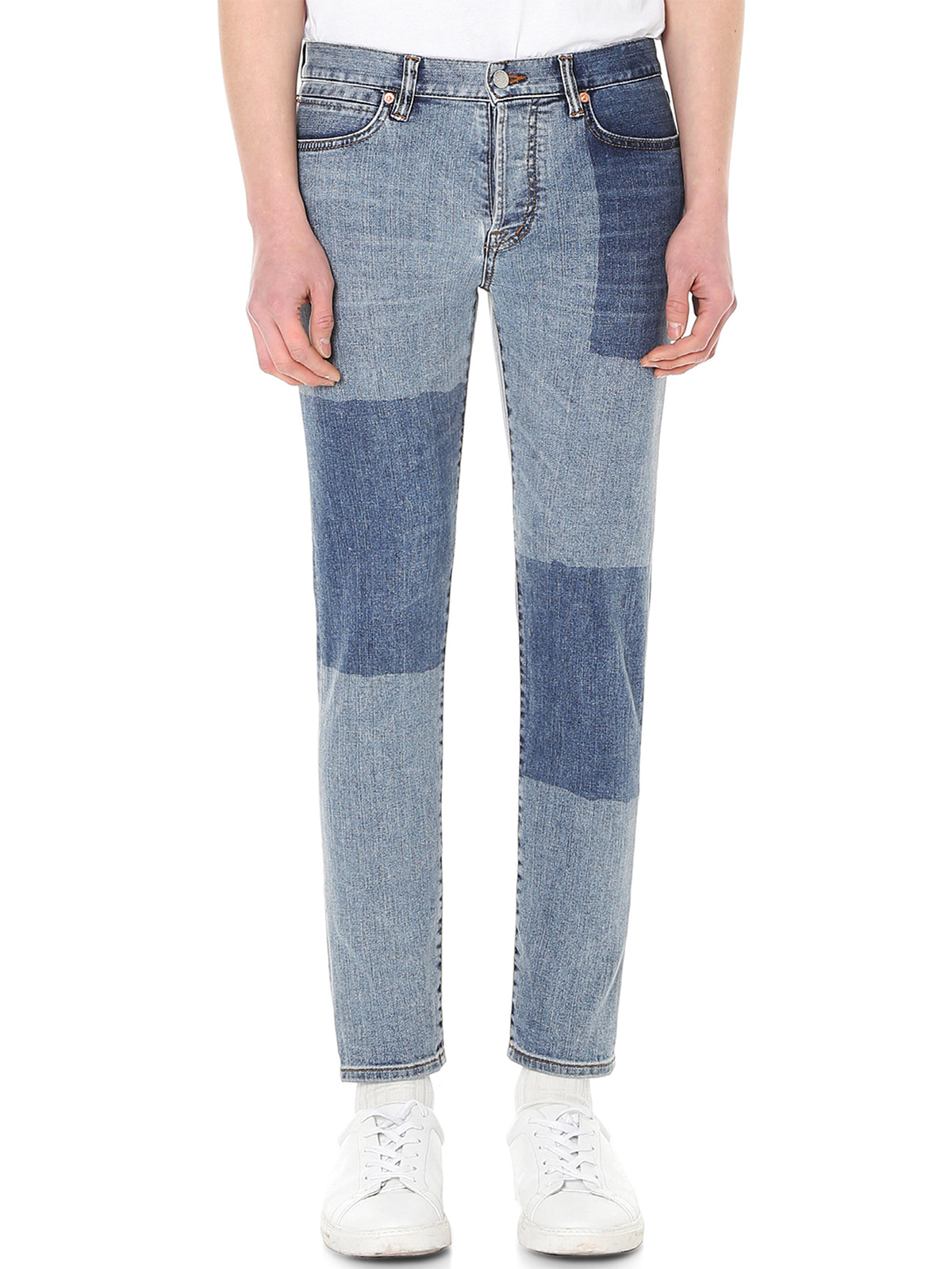 [랩 101]LI3DBC21LB BEN CROP LIGHT BLUE BLOCK WASHING