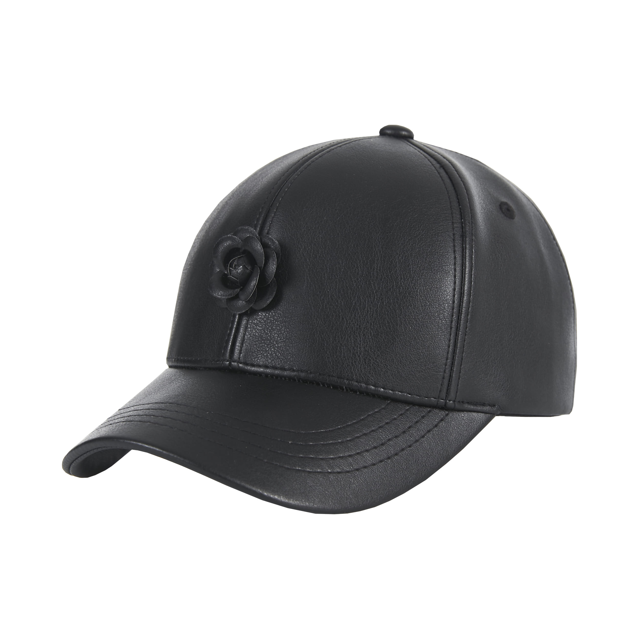 [바잘]   Camellia leather ballcap black/black
