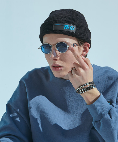 [에드]ADD LOGO WATCH CAP SKY BLUE