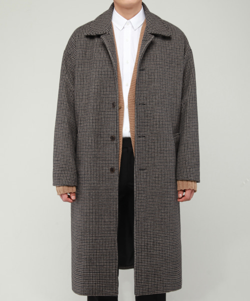 [모디파이드]M#1682 wool hound tooth over mac coat