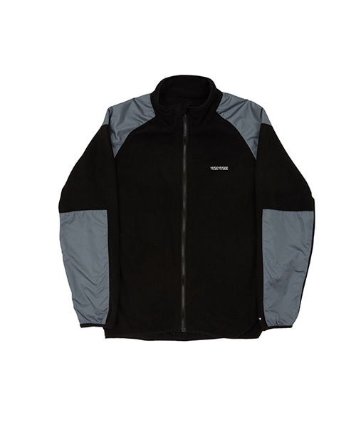 [예스아이씨]FLEECE ZIP UP BLACK