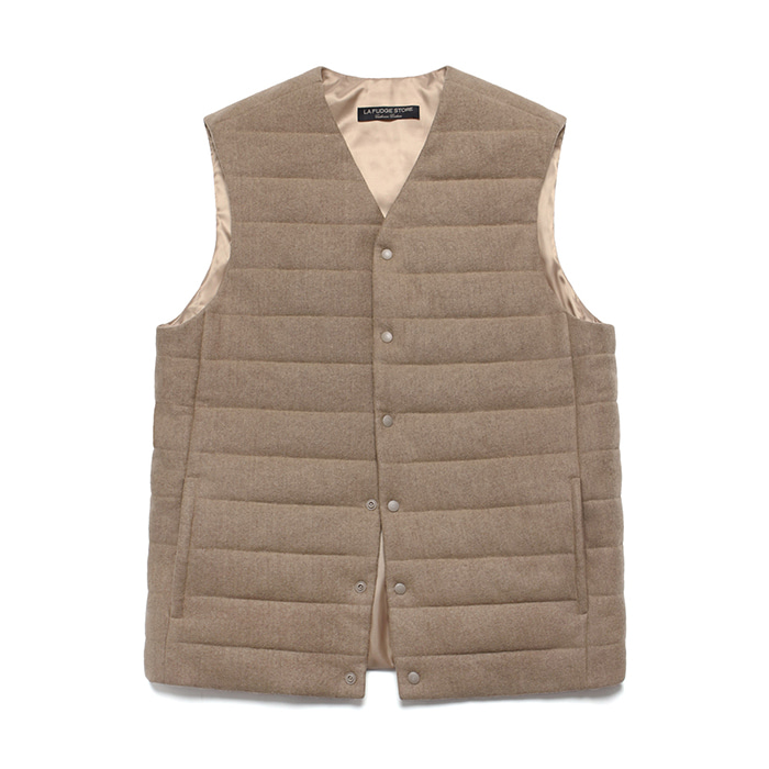 [라퍼지스토어] (Unisex) Cashmere Blend Padding Vest_Cream Beige