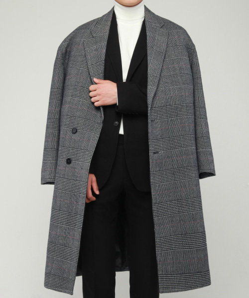 [모디파이드]1681 wool zurich glen check long coat