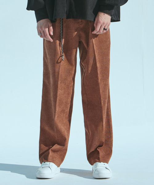 [에드]CORDUROY WIDE PANTS BROWN