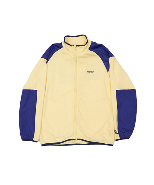 [예스아이씨]FLEECE ZIP UP YELLOW