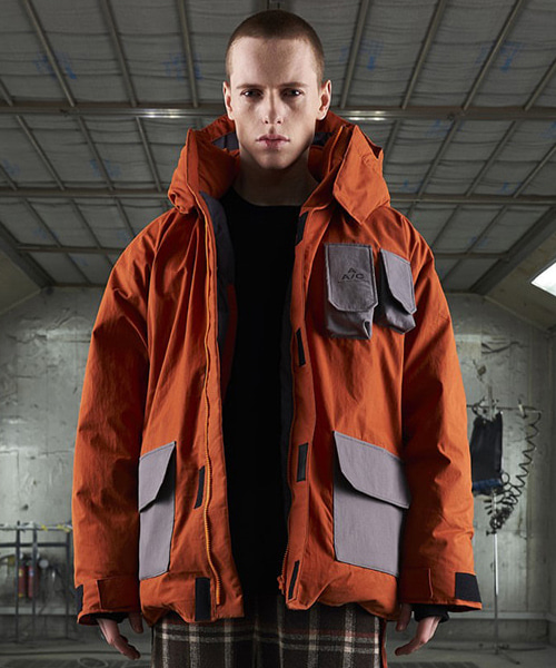 [더블에이씨]Crease Down Jacket (orange)