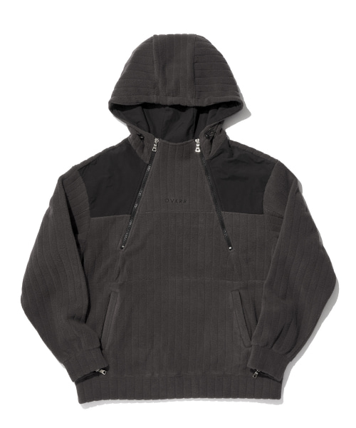 [오베르]TOME.5 FLEECED CHARCOAL INCISION HOODIE