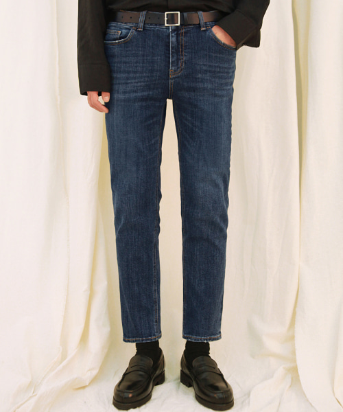 [모디파이드] M#1698 winter napping washed slim denim