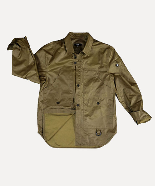 [비아지아] W.S.J 01 wax coated jacket -olive