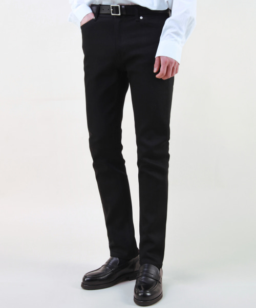 [모디파이드]M#1703 (키높이 +3cm up) black key rigid jeans