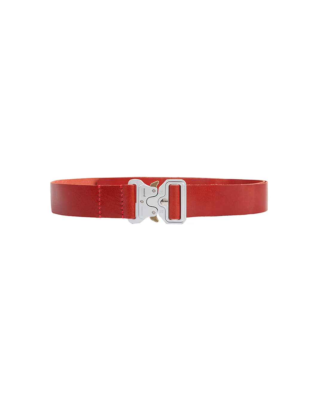 [뉴트럴] Red and silver leather belt