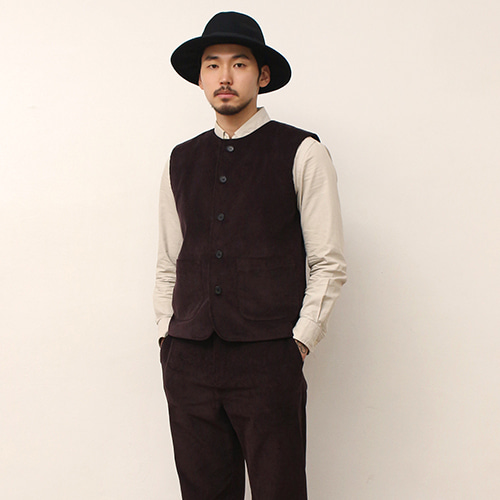 [블랙하인드]Corduroy Vest -Brown-
