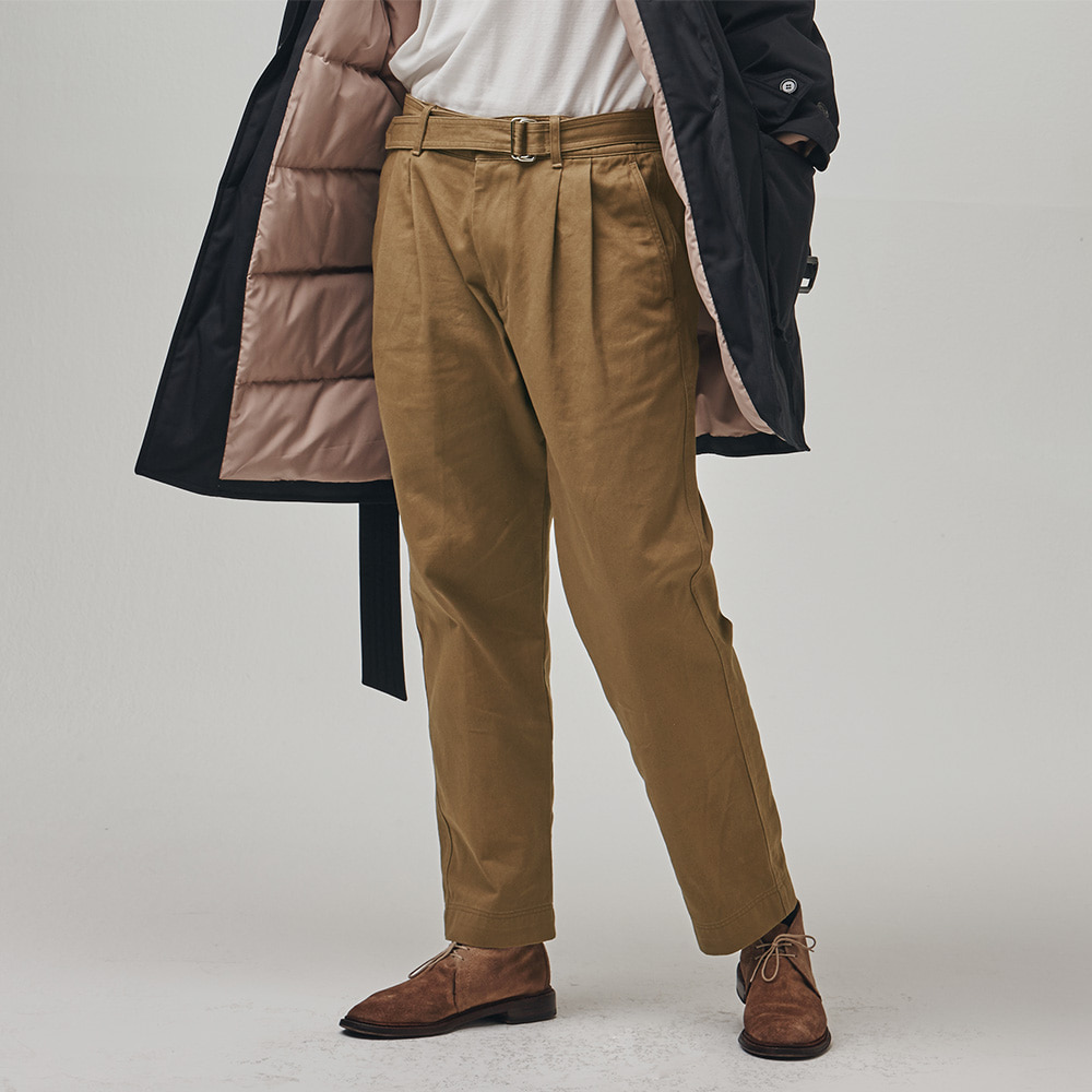 [에스파이] Remain Belted Pants (Beige)