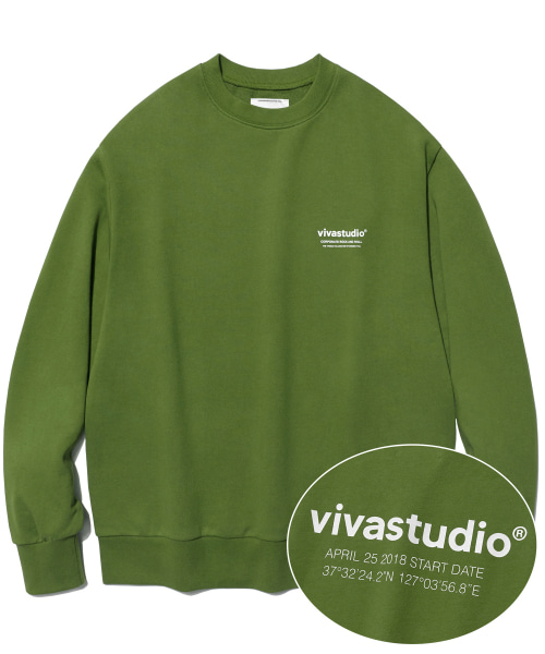 [비바스튜디오]LOCATION LOGO CREWNECK IS [OLIVE GREEN]  결제창