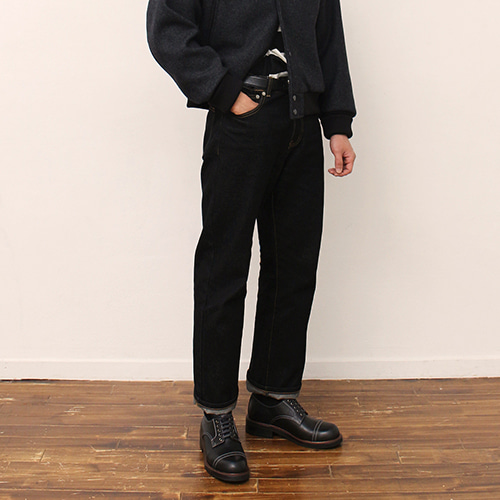 [블랙하인드]13oz denim pants-black-