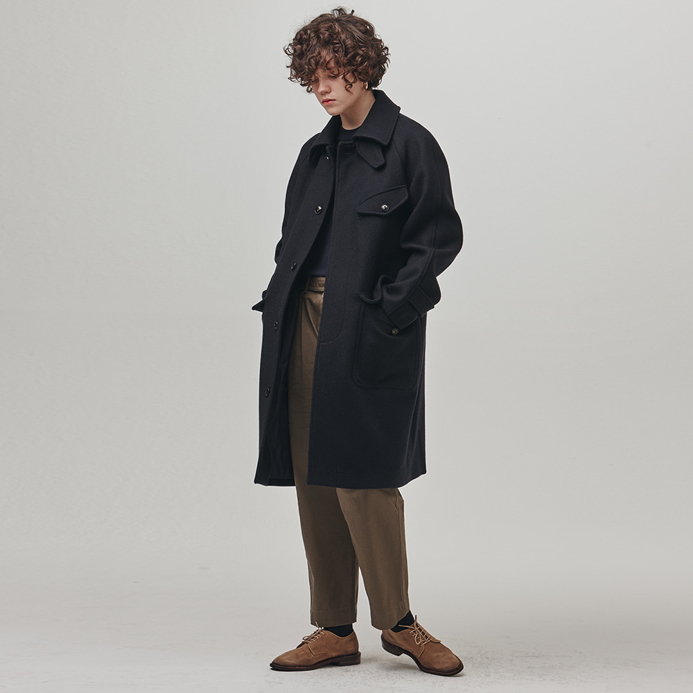[에스파이] Raglan Perm Coat (NAVY)