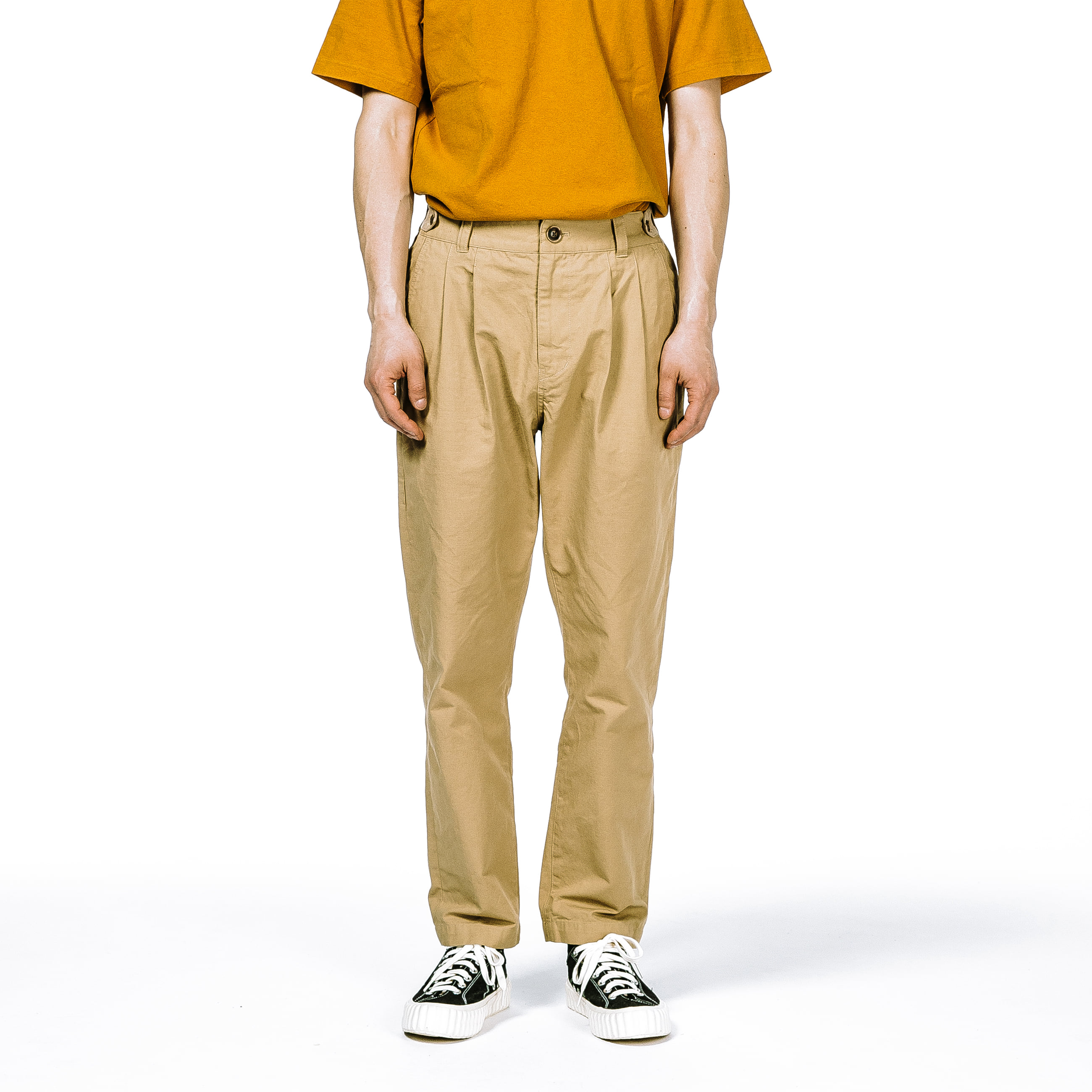 [에스파이] EP Tapered Cotton and Cargo Trousers (BEIGE)