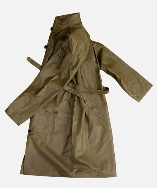 [비아지아] W.U.C 01 wax coated coat -olive