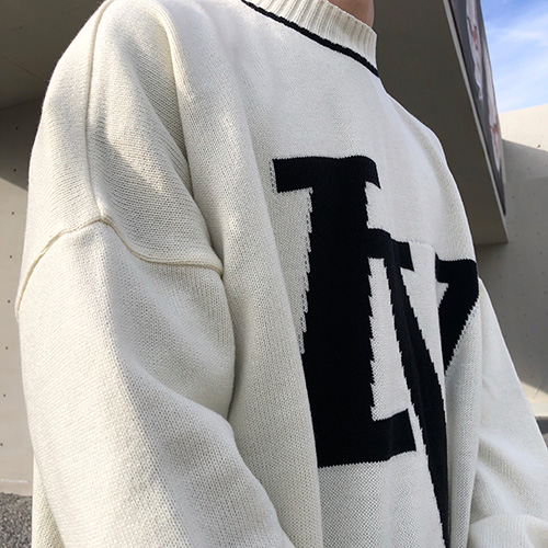[4BLESS][2차 재입고] Iv Logo Knit Ivory