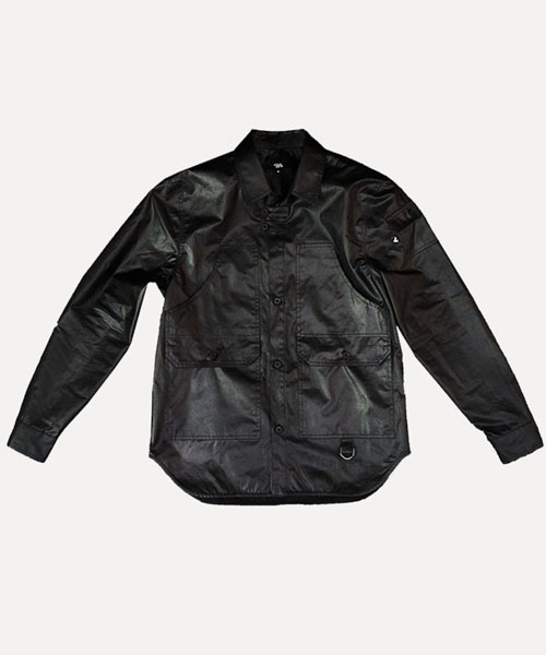 [비아지아] W.S.J 01 wax coated jacket -black