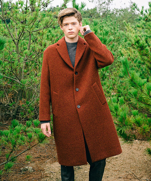 [스탠아드]Brick Semi Over Single Wool Coat