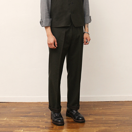 [블랙하인드]Wool Pants -Khaki-