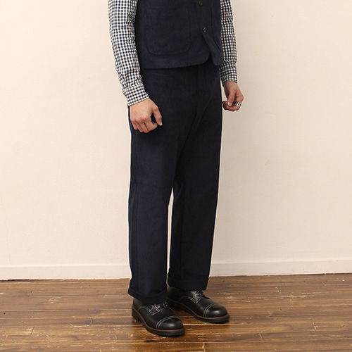 [블랙하인드]Corduroy Pants -Navy-