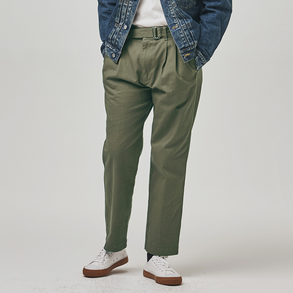 [에스파이] Remain Belted Pants (Khaki)