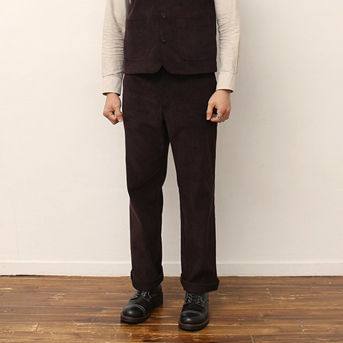 [블랙하인드]Corduroy Pants -Brown-