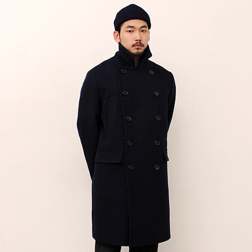 [블랙하인드]Double Coat -Navy-