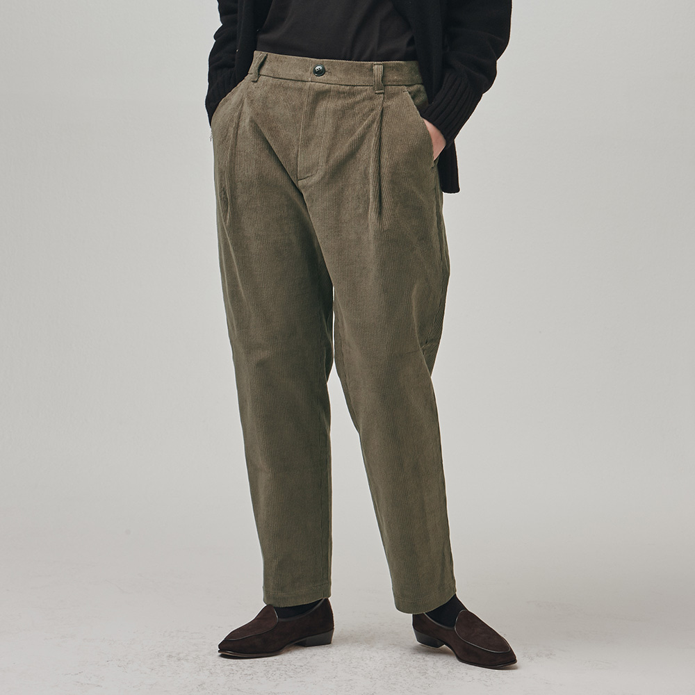 [에스파이] Invisible Relax Pants (Khaki Corduroy)