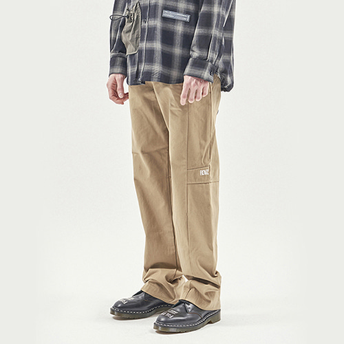 [알디브이제트] TAPE DECO WORK PANTS BEIGE